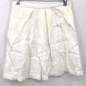 NWT H&M Satin Skirt Size 8 White Shiny Pleated